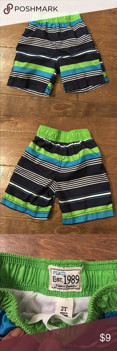 Boys Swim Trunks Swim trunks in EUC. Blue and green colors still vibrant. **Smoke/ pet free home. **Crossposted Children's Place Swim Swim Trunks