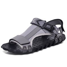 Men Leather Fabric Buckle Hook Loop Non-slip Casual Sandals is comfortable to wear, cheap men sandals are on sale-NewChic. Dressy Flip Flops, Fluffy Sandals, Sandal Price, Mens Slippers, Fashion Sandals, Sport Sandals, Sport Casual, Leather Fabric, Types Of Shoes