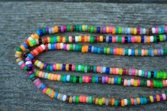 Handmade Long Multicolored Plastic Bead Layering Necklace by TheGlim