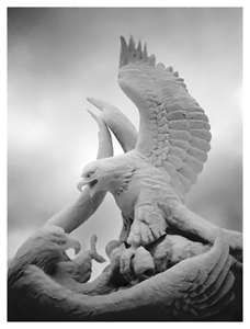 Eagle snow sculpture
