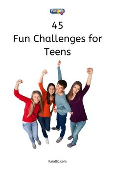 Are you looking for fun challenges for teens? Well, you have come to the right place. Here you will find 45 challenges for teens that your teenager will have a blast doing. Be inspired! Teen Group Games, Group Games For Teenagers, Youth Group Activities, Icebreaker Activities, Youth Games, Activities For Adults, Fun Group, Teen Activities, Youth Groups