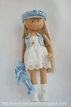 Hanifi handmade: куклы-девочки..beautiful photos of completed dolls...lots of…