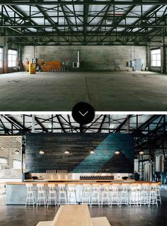 Before & After: Able Seedhouse + Brewery (Design*Sponge) Brewery Decor, Brewery Interior, Brewery Design, Pub Design, Beer Brewery, Restaurant Design, Brewing Beer, Blog Design, Brew Bar
