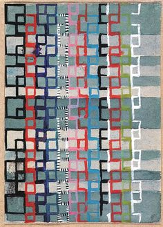 Design for a Jacquard woven textile 1927 10.5x7.5 cm The J. Paul Getty Museum, Malibu, Ca