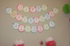 Living A Dream: DIY Birthday Banner & Party Labels