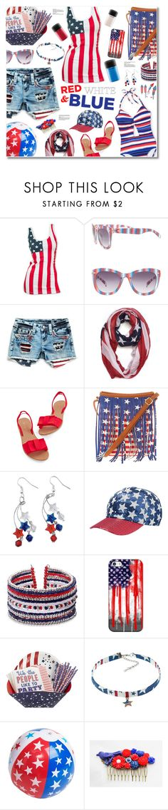 """""""baby, you're a firework."""" by nosleeptilbrooklyn ❤ liked on Polyvore featuring Lane Bryant, Miss Me, Dasein, Casetify, Pier 1 Imports, contest and fourthofjuly"""