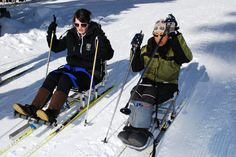 Adapted cross-country ski date. >>> See it. Believe it. Do it. Watch thousands of SCI videos at SPINALpedia.com