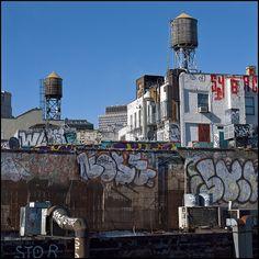 Water Tanks  New York City  by Damien DEROUENE, via Flickr