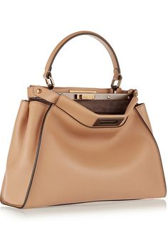 Fendi | Peekaboo medium leather tote | NET-A-PORTER.COM