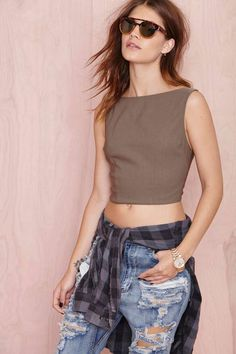 Nasty Gal High and Mighty Crop Top | Shop Tops at Nasty Gal