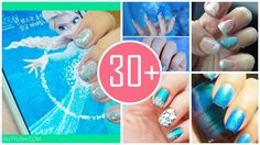 2014 Halloween Trend - Frozen elsa nail that you can make youself more fashion ❉ ✿