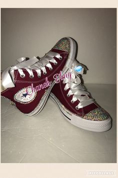 Custom bling converse all star chuck taylor sneakers embellished with high  quality rhinestones and pearls 7625795dd