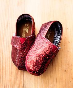 This Red Glitter Classic Tiny Toms on Zulily!