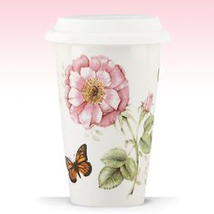 Butterfly Meadow® Travel Mug by Lenox  Refuse to use styrofoam  or anything that's not Earth friendly, and re-use something beautiful #Lenox
