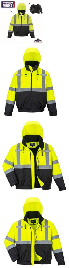 Friendly Portwest Hi Vis Bomber Jacket High Visibility Waterproof Coat Jacket Viz Xs-5xl Customers First Protective Jackets