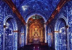 Igreja Matriz De São Lourenço, São Lourenço, Portugal (Inside Church, tile work)