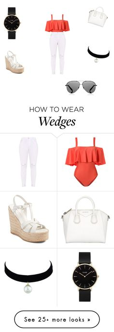 """""""Casual"""" by wjazmine878 on Polyvore featuring ADRIANA DEGREAS, Givenchy, Yves Saint Laurent, Victoria Beckham and CLUSE"""