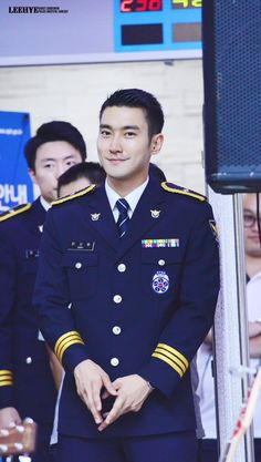 Siwon doing his military service Choi Siwon, Military Service, My Crush, Super Junior, Cuffs, Korean, My Love, Boys, Love Of My Life