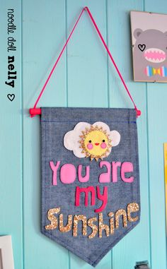 Children's decor 'you are my sunshine' Banner by NoodledollNelly