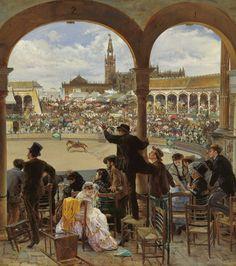 José Jiménez Aranda. Un lance en la plaza de toros, 1870. Colección Carmen Thyssen-Bornemisza en préstamo gratuito al Museo Carmen Thyssen Málaga