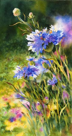 "Susan Crouch: ""Field of Dreams"", Watercolor."