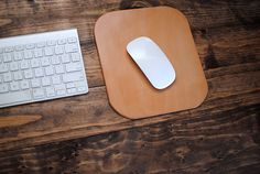 Leather Mouse Pad by BiciCouture on Etsy, $35.00