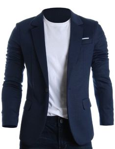 FLATSEVEN Mens Slim Fit Casual Premium Blazer Jacket Navy, Boys L (Chest 36) http://www.flatsevenshop.com/blazers/ # FLATSEVEN #mensfashion #clothing #fashion #men #jacket #BLACKFRIDAY
