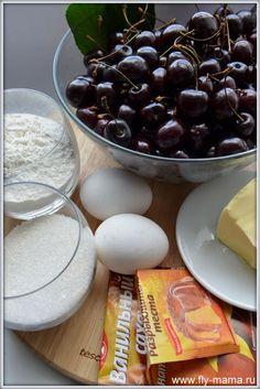 Этот простой и одновременно изумительно вкусный пирог с тонкой ноткой ванили смело можно печь из свежей и замороженной вишни. Предлагаем простой фоторецепт.  __ Сложность: легко Время приготовления: 10 мин. Ожидание готовности: 50 мин.   __  Этот простой и одновременно изумительно вкус