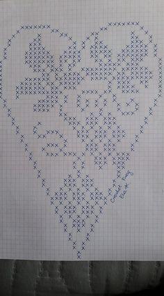 Mania Przerabiania's media content and analytics Free Crochet Doily Patterns, Filet Crochet Charts, Crochet Doilies, Cross Stitching, Cross Stitch Embroidery, Cross Stitch Patterns, Fillet Crochet, Cross Stitch Heart, Crochet Tablecloth
