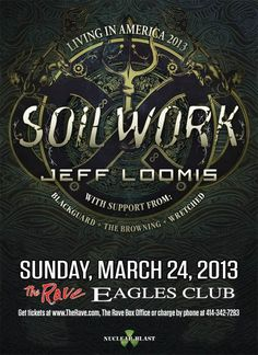 Soilwork live at The Rave on March 24, 2013