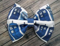 Doctor Who Police Box Tardis, The Doctor, hair bow, alligator clip, French barrette, Christmas Present, accessories, gift, Nerdy, time Lord on Etsy, $8.00