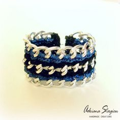 Crochet & chain bracelet www.jewelmyday.gr www.jewelmyday.eu #handmade #accessories #fashion #jewelry #bracelet