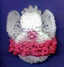 Angel Fridgie/Ornament/Sachet | AllFreeCrochet.com