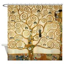 Klimt Tree Of Life Shower Curtain Art Bathroom Curtains Fabric