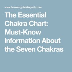 The Essential Chakra Chart: Must-Know Information About the Seven Chakras