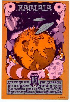 6/9-10/ 1967 ..... California Hall ......  Steve Miller Band  .... Sparrow ..... artist ..... MICHAEL WOOD