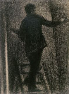 Georges Seurat - Artist at Work, 1884