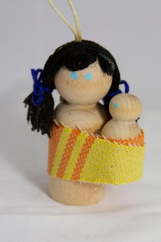 Wooden Wrap Scrap Babywearing Doll 155 by BabywearingLove on Etsy, $10.00