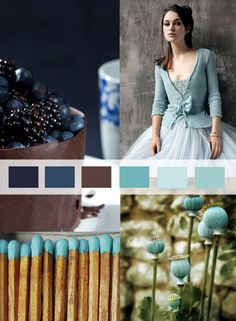 Turquoise, wood and blue