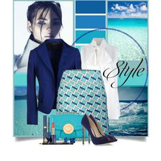 """""""Blue"""" by brendariley-1 on Polyvore"""