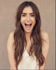 Lilly Collins Hair, Lily Collins Makeup, Lily Collins Style, Phil Collins, Gorgeous Hair, Fashion Photo, Hair Beauty, Long Hair Styles, Celebrities