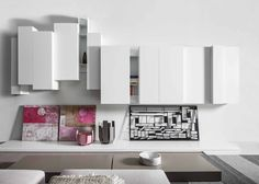 Spazio Moduli szekrény összeállítás | Spazio Moduli wall units Insieme puff | insieme pouf Joker Ground tálaló asztal | Joker Ground table  Gyártó | Manufacturer: Pianca  http://www.pianca.com