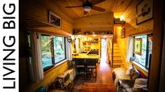 Natural-Build Tiny House For Family With Separate Office and Kids Bedroom