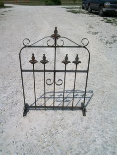 """35"""" Wrought Iron Garden Gate Trellis"""