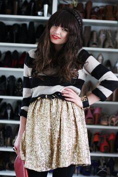 Riches for Rags Orange Skirt, Purple Skirt, Gray Skirt, Sequins And Stripes, Black White Stripes, Gold Sequins, Camel Skirts, Red Skirts, Sparkly Skirt