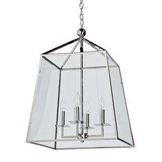 Regina Andrew Metal and Glass Lantern | Chandeliers | Regina Andrew | Brands | Candelabra, Inc.