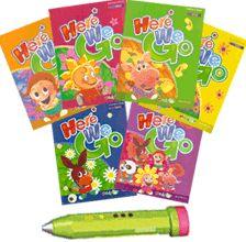 Here We Go - 6 livres anglais pour enfants et stylo lecteur pour apprendre l'anglais aux enfants de 3 à 8 ans : une méthode d'initiation ludique et dynamique d'apprentissage de l'anglais pour enfants par le jeu, la musique et la lecture. Des cours d'anglais pour enfants à la maison et à l'école maternelle et primaire CP-CE1. 140,00 EUR  Le pack comprend : 6 livres Here We Go et 1 A-Stylo (stylo lecteur avec carte mémoire 1 Go, 2 piles AAA, 1 interface USB pour se connecter à un ordinateur).