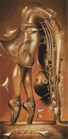 Salaam Muhammad - The Balletic Tune : Black art prints & African American Art & Gifts Black Love Art, Black Girl Art, Art Girl, Black Art Pictures, Art Africain, Black Artwork, Black Art Painting, Body Painting, Wow Art
