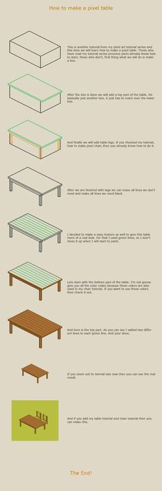 Create a Pixel Table Tutorial for Newbies