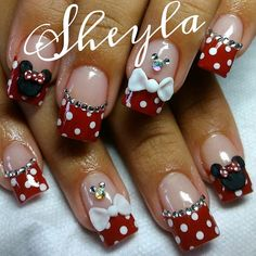 Minnie mouse nails nails pinterest disney disney - Modelos de unas pintadas ...